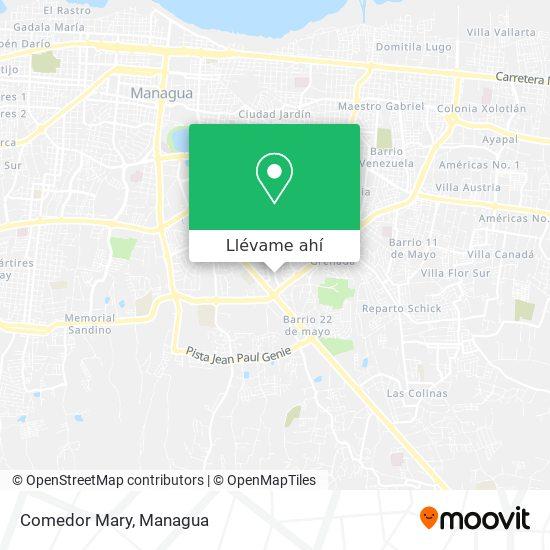 Mapa de Comedor Mary