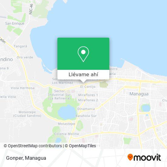 Mapa de Gonper