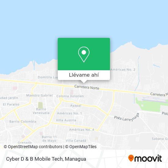 Mapa de Cyber D & B Mobile Tech