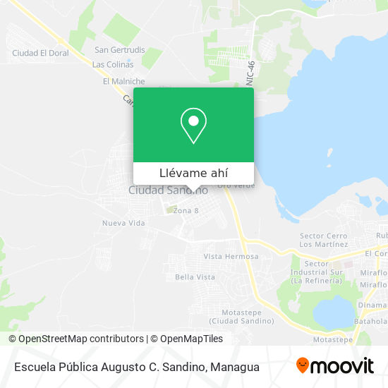 Mapa de Escuela Pública Augusto C. Sandino