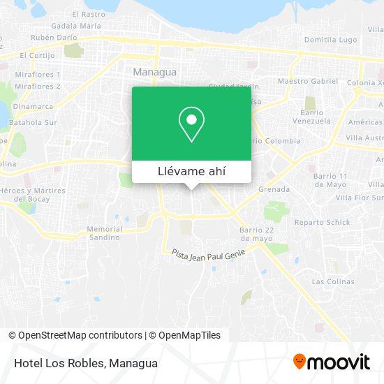 Mapa de Hotel Los Robles