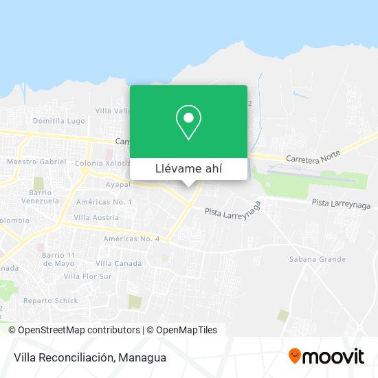 Mapa de Villa Reconciliación