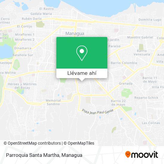 Mapa de Parroquia Santa Martha