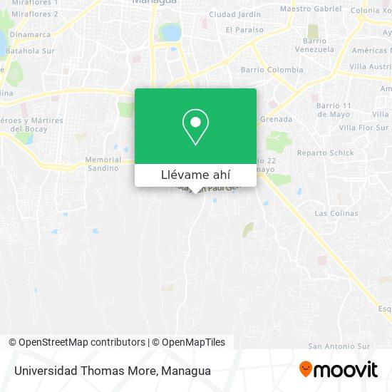 Mapa de Universidad Thomas More
