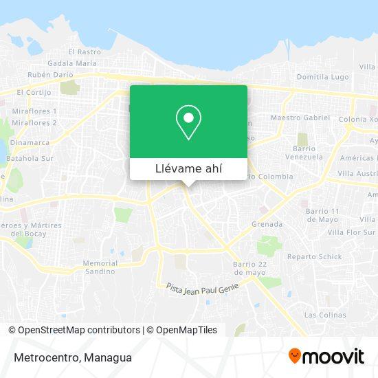 Mapa de Metrocentro