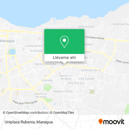 Mapa de Uniplaza Rubenia
