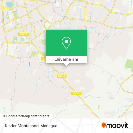 Mapa de Kinder Montessori