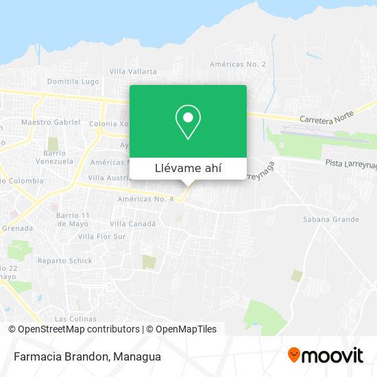 Mapa de Farmacia Brandon