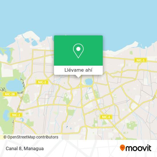 Mapa de Canal 8