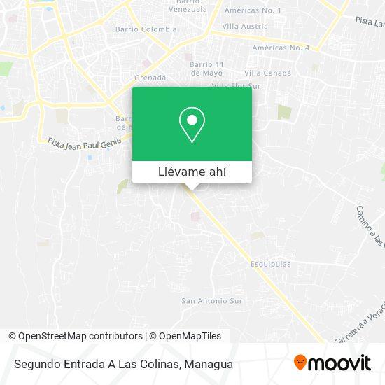 Mapa de Segundo Entrada A Las Colinas