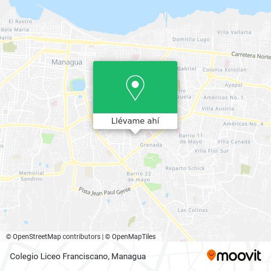 Mapa de Colegio Liceo Franciscano