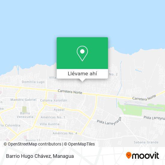 Mapa de Barrio Hugo Chavez
