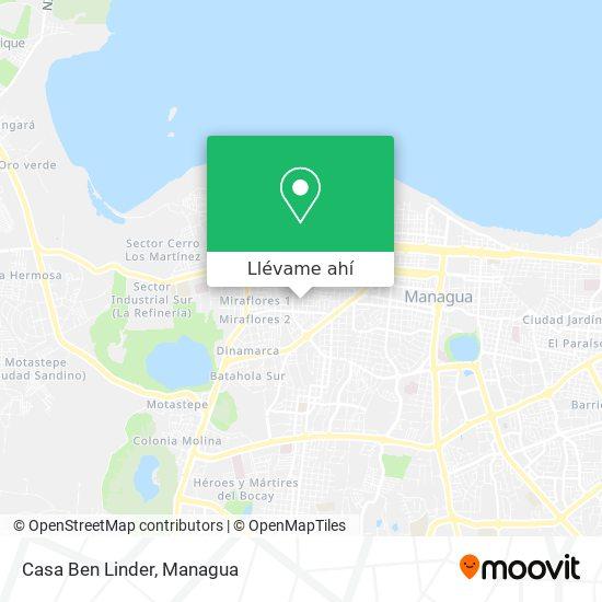 Mapa de Casa Ben Linder
