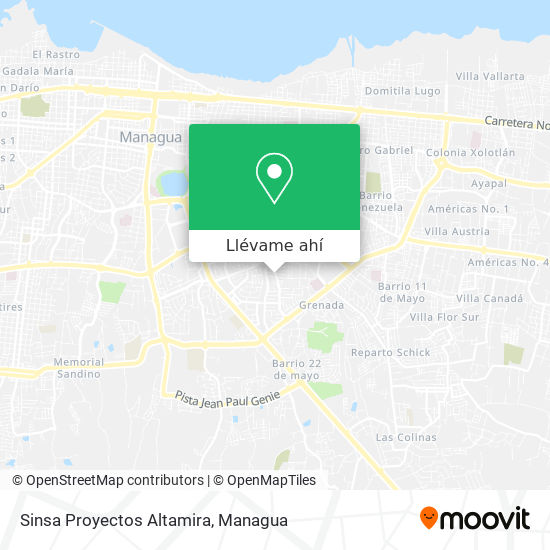 Mapa de Sinsa Proyectos Altamira