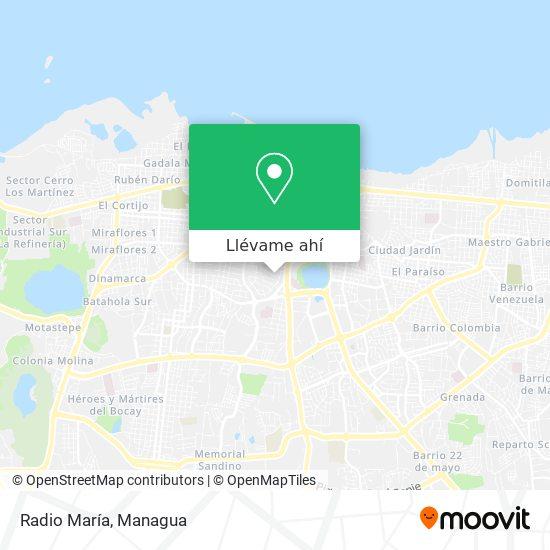 Mapa de Radio Maria