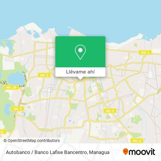 Mapa de Autobanco / Banco Lafise Bancentro