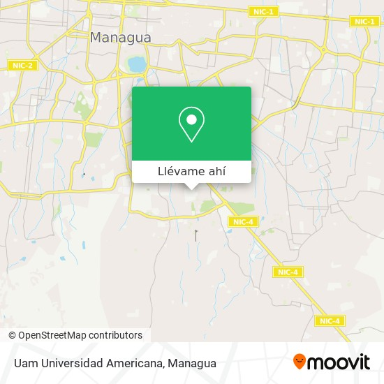 Mapa de Uam Universidad Americana