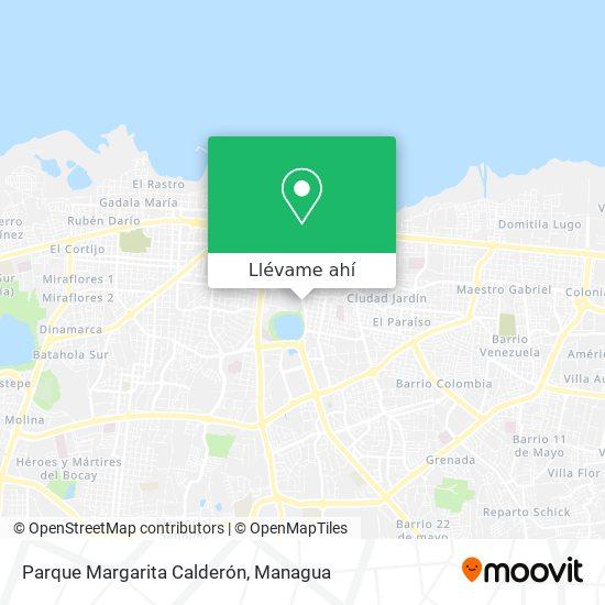Mapa de Parque Margarita Calderón