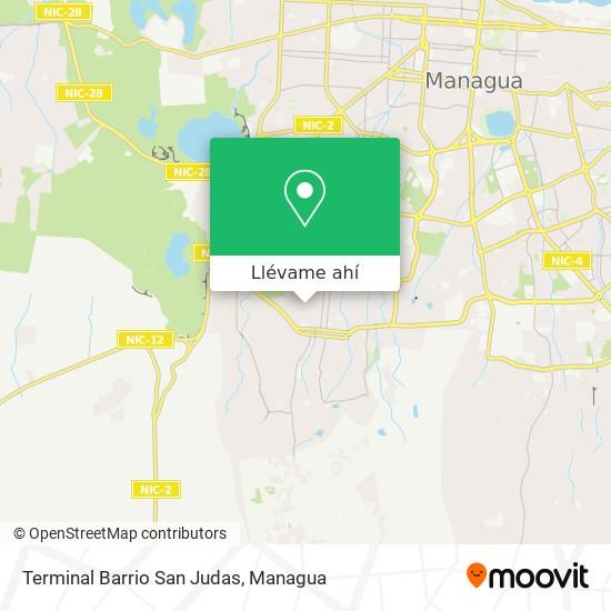 Mapa de Terminal Barrio San Judas