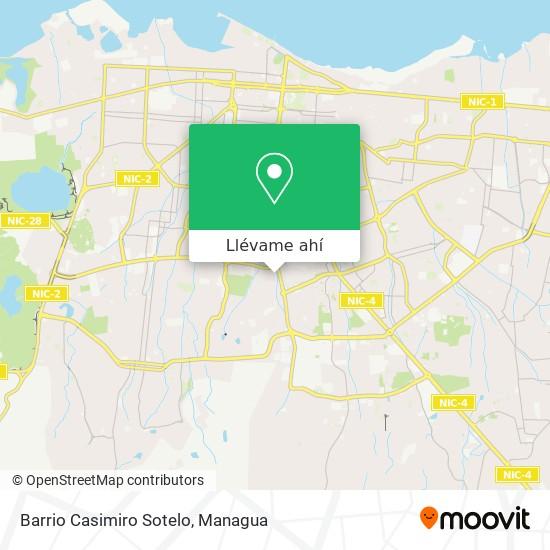 Mapa de Barrio Casimiro Sotelo
