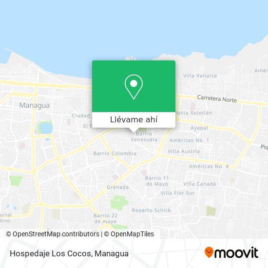 Mapa de Hospedaje Los Cocos