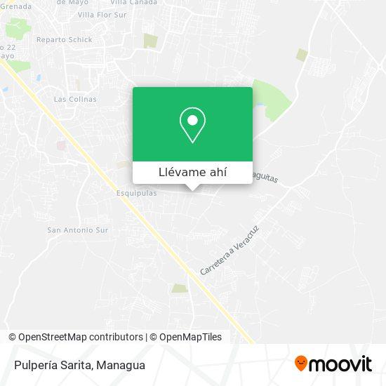 Mapa de Pulperia Sarita