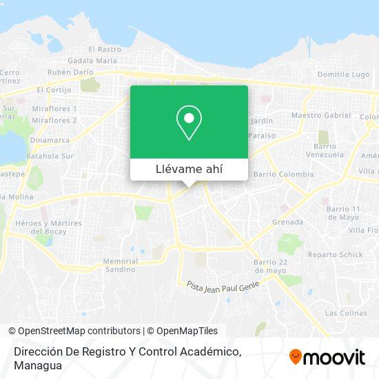 Mapa de Dirección De Registro Y Control Académico