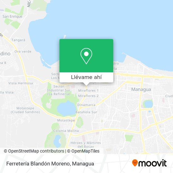 Mapa de Ferretería Blandón Moreno