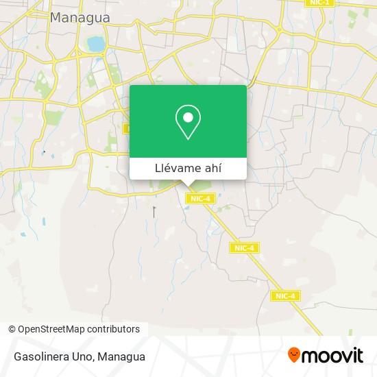 Mapa de Gasolinera Uno