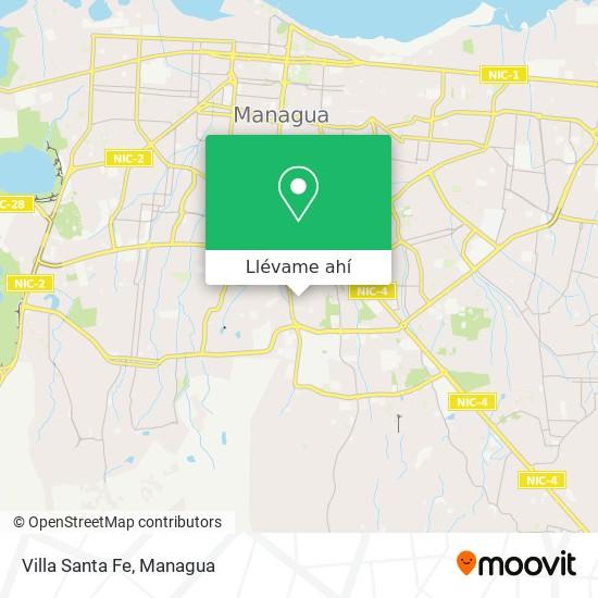 Mapa de Villa Santa Fe