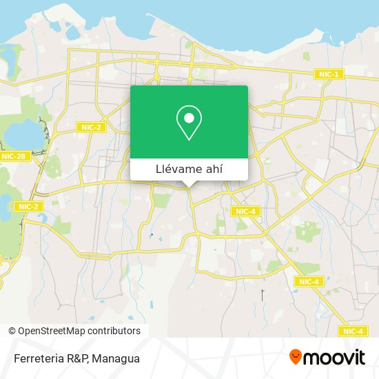 Mapa de Ferreteria R&P