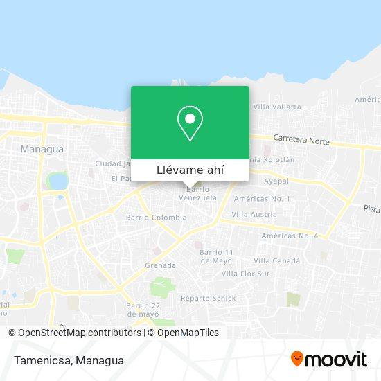 Mapa de Tamenicsa