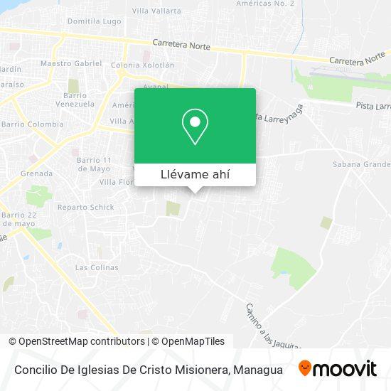 Mapa de Concilio De Iglesias De Cristo Misionera