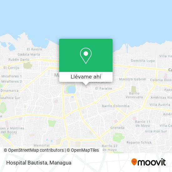 Mapa de Hospital Bautista