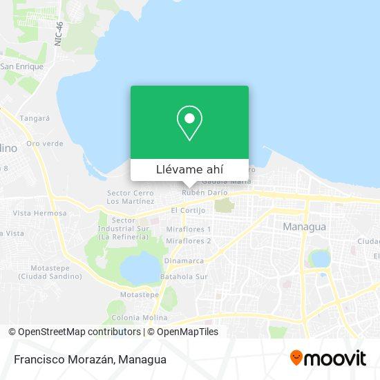 Mapa de Francisco Morazán