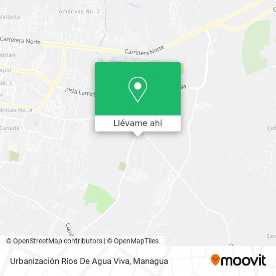 Mapa de Ríos De Agua Viva