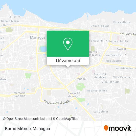 Mapa de Barrio México