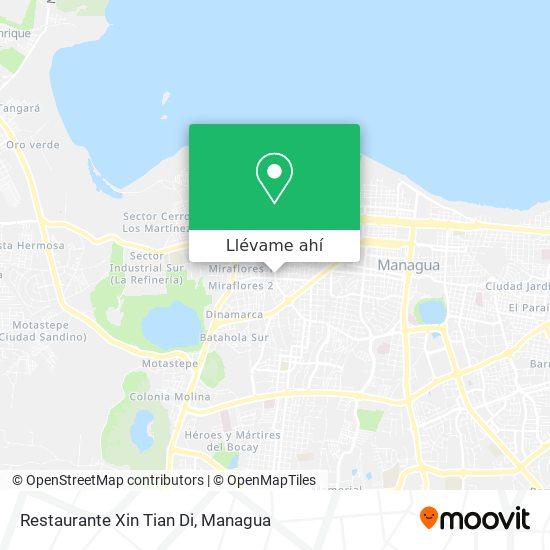 Mapa de Restaurante Xin Tian Di