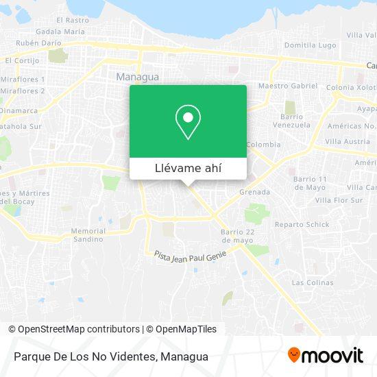 Mapa de Parque De Los No Videntes
