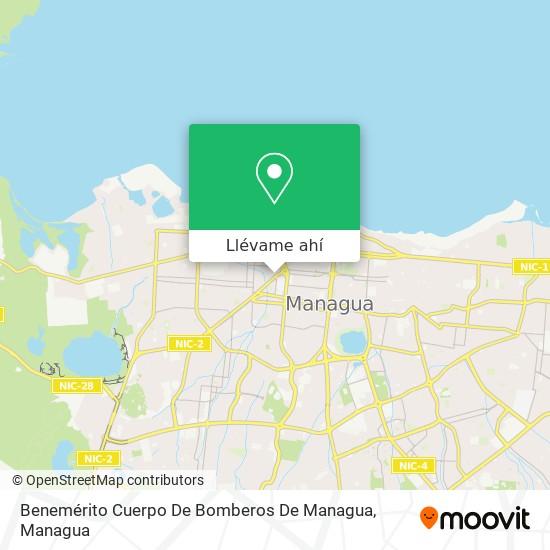 Mapa de Benemérito Cuerpo De Bomberos De Managua