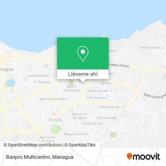 Mapa de Banpro Multicentro