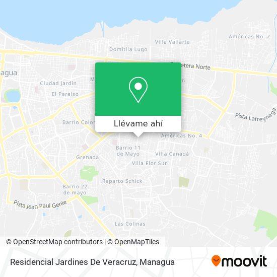 Mapa de Residencial Jardines De Veracruz