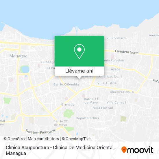 Mapa de Clínica Acupunctura - Clínica De Medicina Oriental