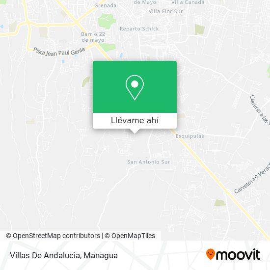 Mapa de Villas De Andalucia
