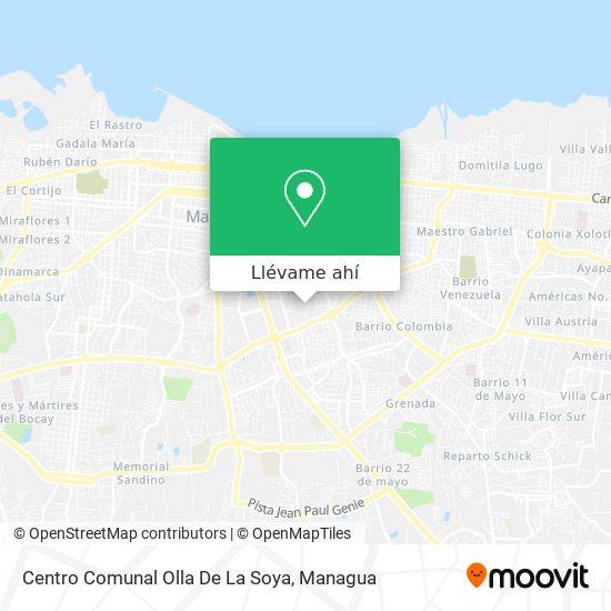 Mapa de Centro Comunal Olla De La Soya