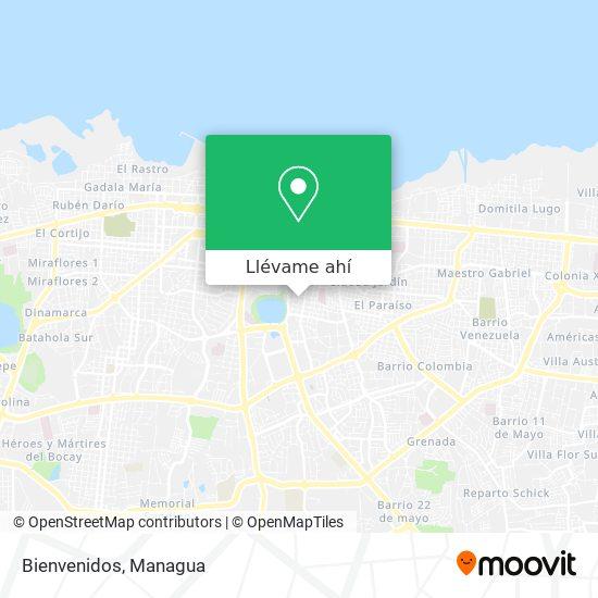 Mapa de Bienvenidos