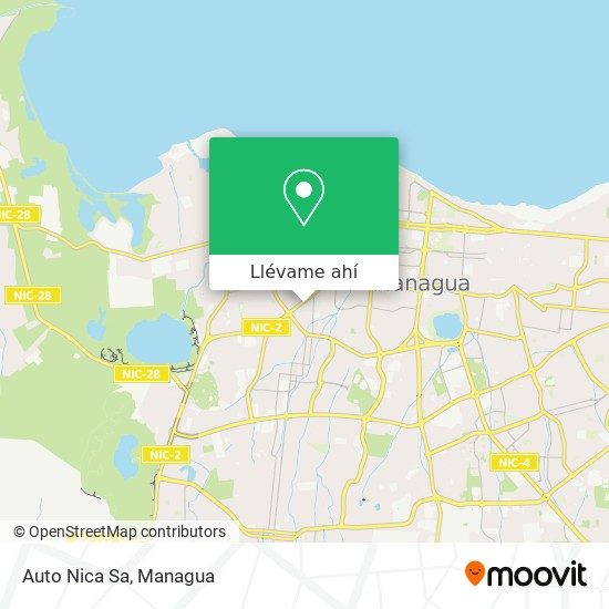 Mapa de Auto Nica Sa