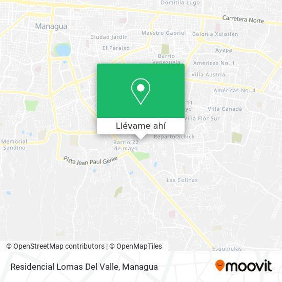 Mapa de Residencial Lomas Del Valle