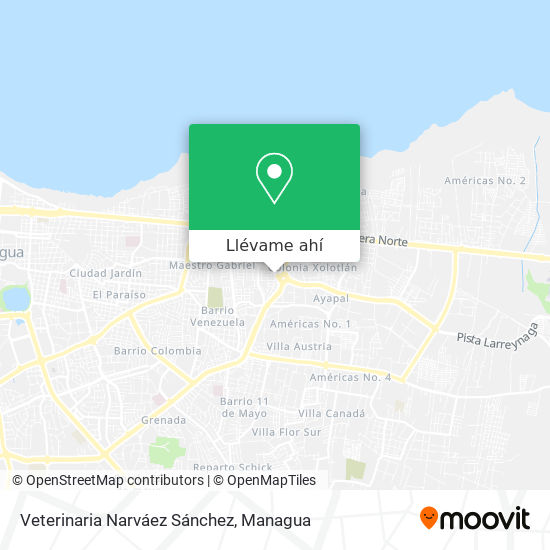 Mapa de Veterinaria Narváez Sánchez
