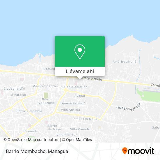 Mapa de Barrio Mombacho